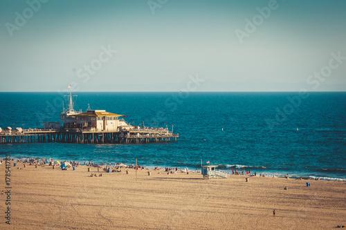 Obraz na dibondzie (fotoboard) Snata Monica molo w Kalifornii
