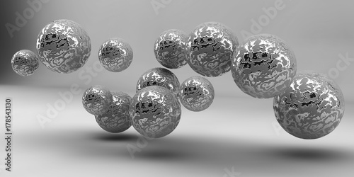 Abstract 3d shapes on background. 3d image. 3d rendering. - 178543130