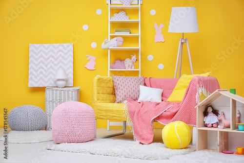 Photo  Beautiful interior of child's room
