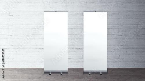 Exhibition Stand Roll Up : Roll up banners stand blank template mockup exhibition stand