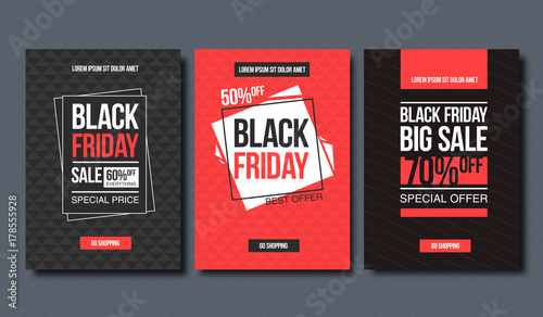 Papel de parede  Black friday sale design template