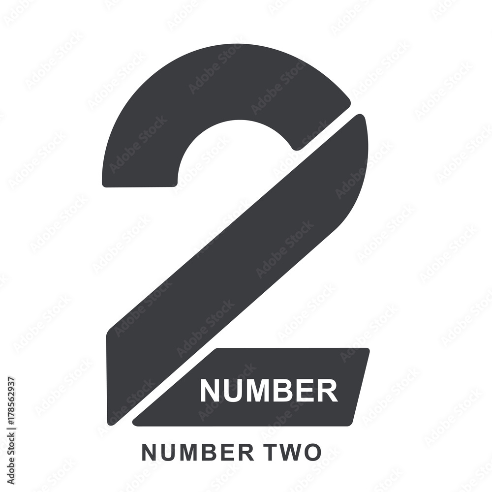 Fototapeta numeric logo two