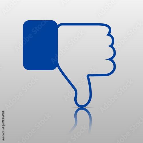 Dislike Icon Thumb Down Hand Or Finger Illustration Mbol Of