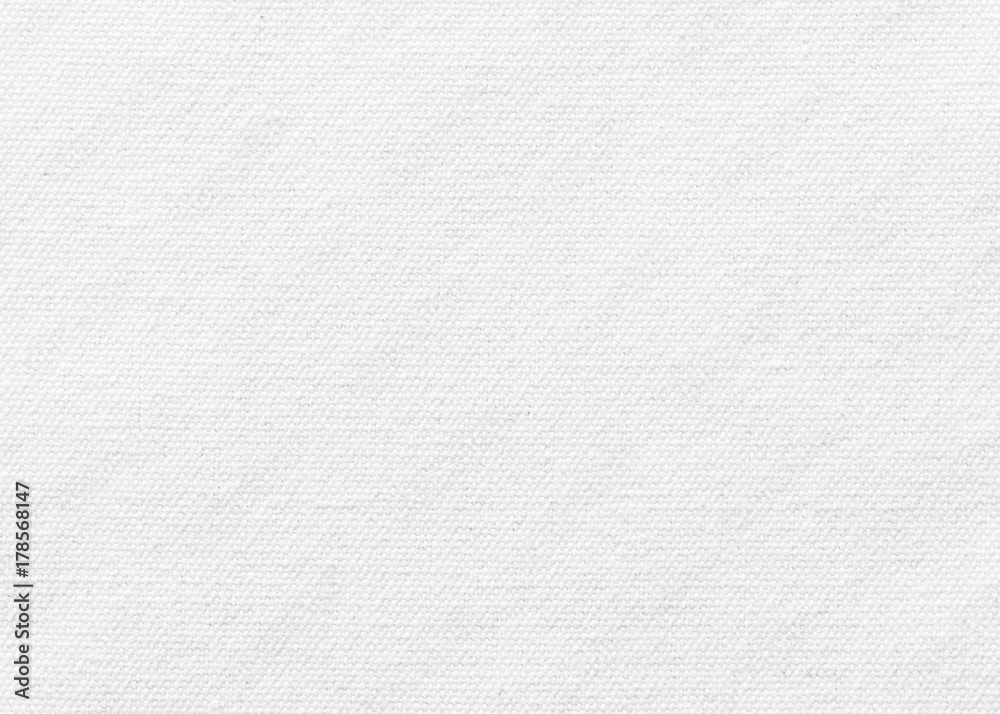 Fototapety, obrazy: White canvas burlap texture background with cotton fabric pattern in light grey for arts painting backdrop, sacking and bagging design
