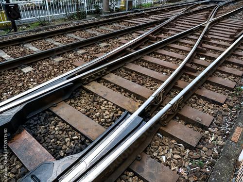 線路、切り替え、ポイント、レール。