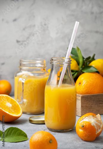 Fototapeta sok pomarańczowy