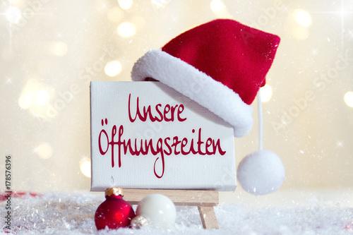 Foto  Unsere Öffnungszeiten an Weihnachten