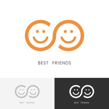 Best Friends Logo - Two Smilin...