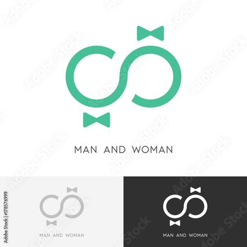 Man And Woman Logo Love Infinity Symbol Groom Bride Wedding