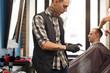 Hairstylist at barbershop