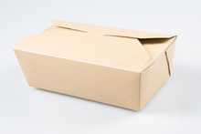 Takeaway Cake Box On White Background Isolated