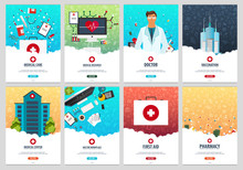 Set Of Medical Posters. Health...