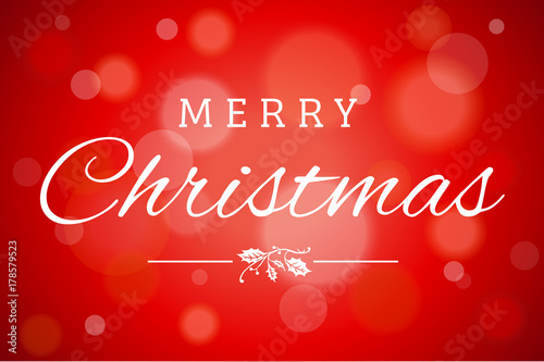 Foto  Red Soft Focus Merry Christmas Vector Horizontal Background 1