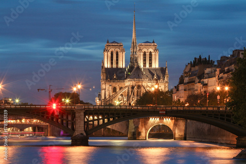 The Notre Dame Cathedral , Paris, France. Canvas Print