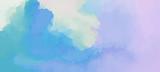 Fantasy miękkie fioletowe różowe chmury, gwasz. Zmierzchu niebo malował tło w pastelowym kolorze. Streszczenie ilustracji wektorowych. - 178584319