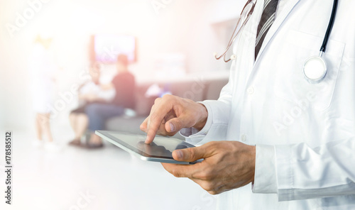 Fotografie, Obraz  Smart health care internet of things and hospital automation management technology concept with paperless