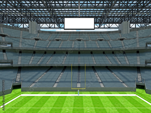 Fototapety, obrazy: Modern American football Stadium with grey seats