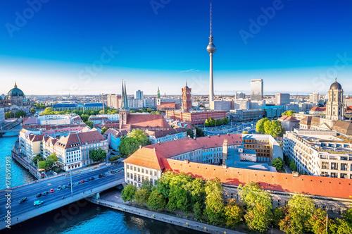 Keuken foto achterwand Berlijn panoramic view at the berlin city center
