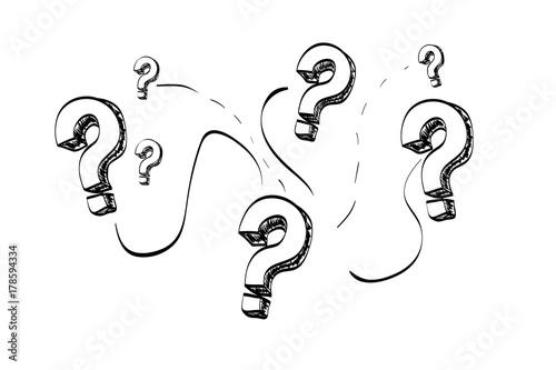 Cuadros en Lienzo Question mark on a  white background
