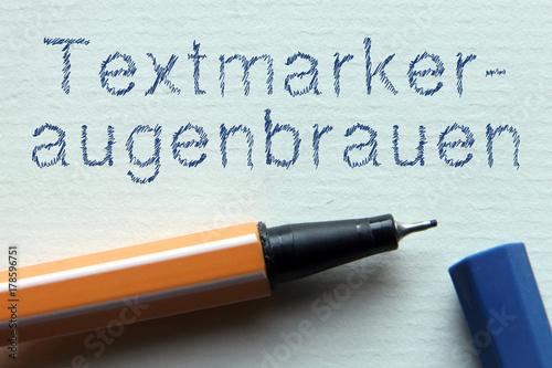 Photo  Jugendwort des Jahres - Textmarkeraugenbrauen
