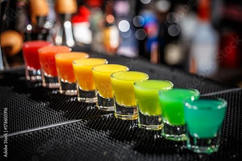 Fotografie, Tablou Hard alcoholic shots