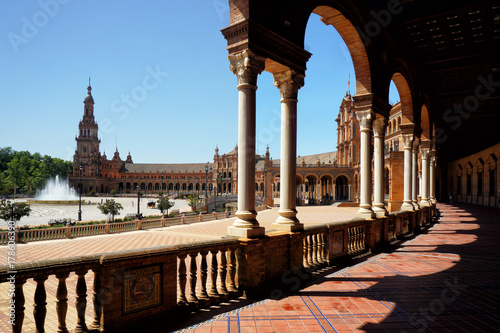 Fotobehang Praag Plaza de Espana, Sevilla