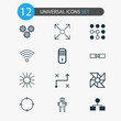Learning Icons Set. Collection Of Mainframe, Solution, Mechanism Parts And Other Elements. Also Includes Symbols Such As Algorithm, Cogwheels, Cycle.