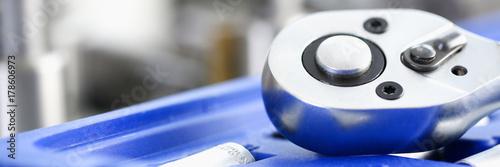 Foto op Plexiglas Stenen in het Zand Tools instrument closeup . Car repair key