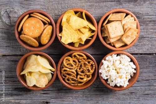 Leinwand Poster Mix of snacks