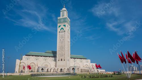 Plakat Meczet Hassana II - Casablanca, Maroko