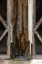 Wet Rot On A Window Of An Old ...