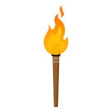 Torch. Flat Design. Vector.