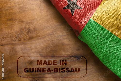 Staande foto Algerije stamp made in Guinea-Bissau