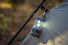 Closeup Of Tent And Lantern In...