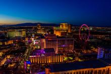Aerial View Of Las Vegas Strip...