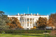 The White House Illuminated By Evening Sun, Washington DC
