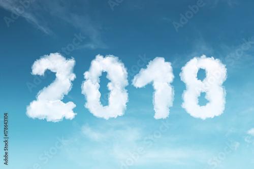 Staande foto Kids Happy New Year 2018