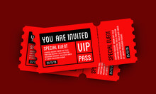 VIP Entry Pass Ticket Stub Design Template