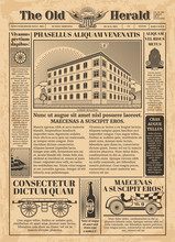Vintage Newspaper Vector Templ...