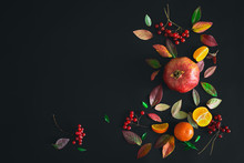 Fall Dark Background With A Sp...