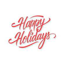 Happy Holidays Hand Lettering ...