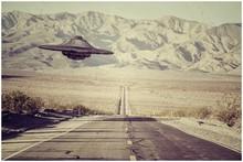 Ufo Flying Over The Desert