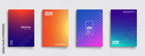 Fototapeta Minimal covers design. Cool gradient colors. Geometric halftone gradients. Eps10 vector. obraz