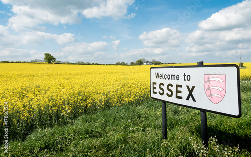 Photo  Welcome to Essex sign, UK