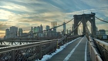 Brooklyn Bridge New York On Wi...