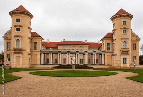 Montage in der Fensternische Schloss Schloss Rheinsberg