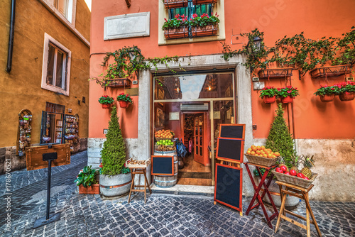 Picturesque fruit store in Rome
