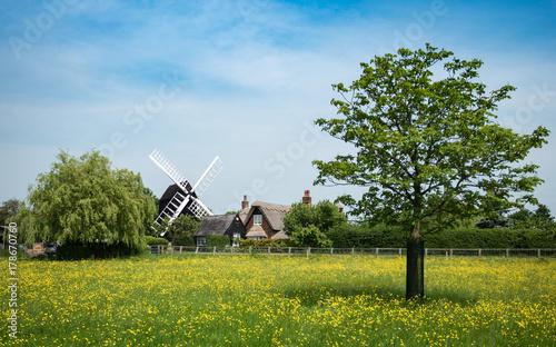 Traditional English Windmill; Bourn, Cambridgeshire, England