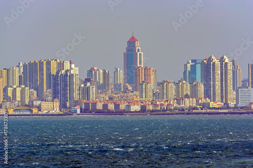 Poster New York Seaside of chinese city Qingdao.