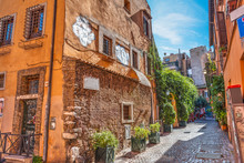Picturesque Alley In Trastevere